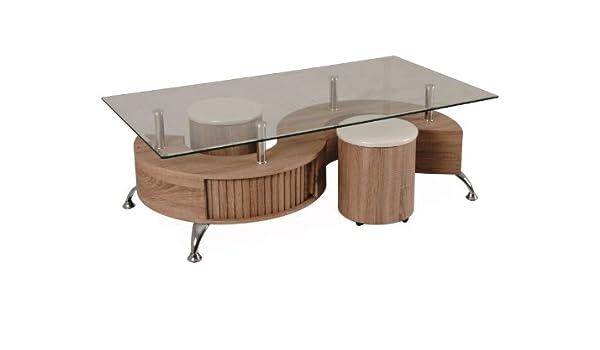 Jadella hollywood tavolino basso con sgabelli in rovere