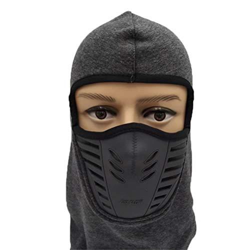 ASOSMOS Warmer Full Face Maske Mask-Bezug mit atmungsaktivem Mesh-Silikon-Panel Winter Fleece-Hals für Erwachsene ()