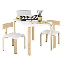 Set: 1 Tisch 6 Kombinationen Stuhl Truhenbank Kinderm/öbel Tisch Kindertisch Kinderstuhl Tafel Standtafel Kinderregal Kindersitzgruppe Truhenbank Spielgruppe PAPILLON 2 St/ühle IB-Style