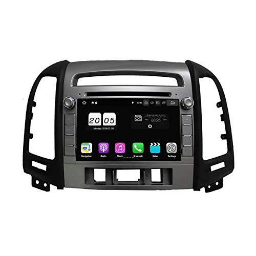 7 Zoll 2 Din Android 8.1 OS Autoradio für Hyundai Santa Fe(2006 2007 2008 2009 2010 2011 2012),DAB+ Radio kapazitiver Touchscreen mit Quad Core 1.5G CPU 16G Flash und 2G DDR3 RAM GPS Navi Radio