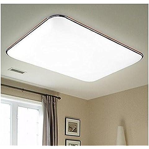 Fx@ Mobile APP control remoto LED marrón techo lámpara techo lámpara caliente blanco cromo (27W, 650 mm * 430 mm / 2160 lumen) [clase energética a ++]