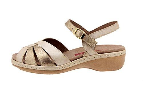 Scarpe donna comfort pelle Piesanto 2812 sandali soletta estraibile comfort larghezza speciale