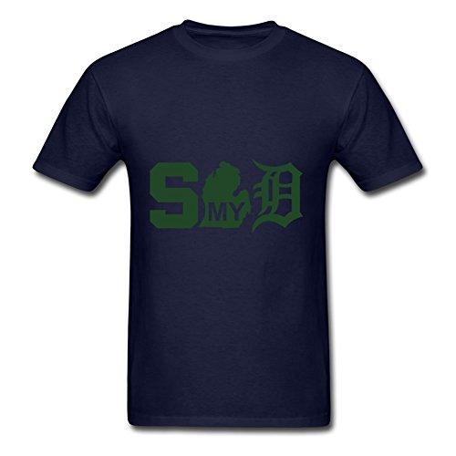darlabrown Spartaner Michigan Detroit Print top-shirt Größe für Herren Farbe Größe L navy -
