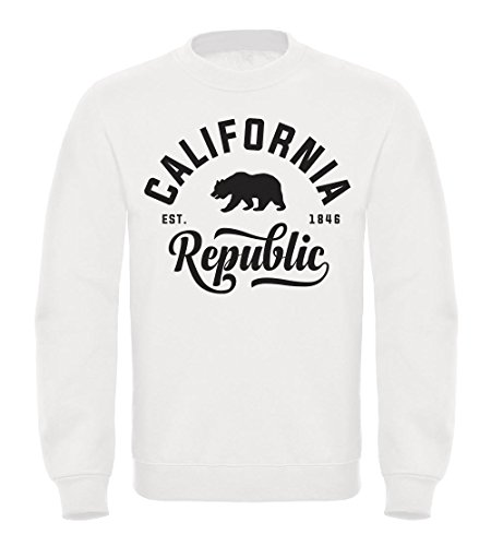 Schöner California Republic Herren Pullover Sweatshirt Neverless® California weiß