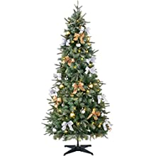 WeRChristmas Pre-Lit Pop Up Decorated Christmas Tree with 100 Static Warm LED Lights, Multi-Colour, 6 feet/1.8m