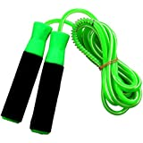 Body Maxx Gym Skipping Rope Foam Grip Handle Bars Green Color