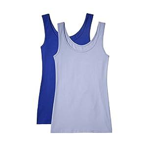 Amazon-Marke: Iris & Lilly Unterhemd Damen aus Baumwolle, 2er-Pack