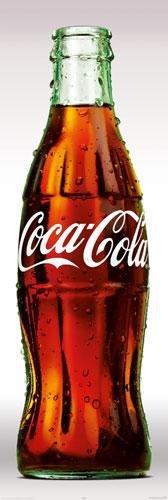 Riesen-Tür-POSTER, Motiv: Coca-Cola-Flasche Maße: 158 x 53 cm, ca. 62 x 53.34 es cm), Classic, Trinken, teilen sich immer -