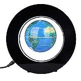 Magnetisch Schwebende Globus Elektronisch Rotierend Anti Schwerkraft Levitation Kugel mit Leuchten Weltkarte für Geschenk Haus Büro Dekoration(Blau)