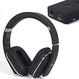 Wireless Bluetooth Headphones - August EP650B with MR250 Transmitter and Carry Case - For listing to TV through Headphones Wirelessly