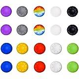 Mudder Cubierta Protectora de Apretones de Pulgar de Silicona para PS4, Xbox 360, PS3 Controladores, Color mezclado(Juego de 10)