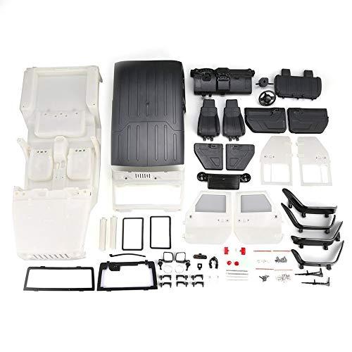HoganeyVan Zerlegte Hartplastik Auto Shell Body DIY Kit für 313mm Radstand 1/10 Wrangler Jeep Axial SCX10 RC Auto Crawler Fahrzeug (Auto Axial Kit)
