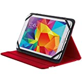 """Trust Primo - Funda para tablet de 7-8"""" (soporte de sobremesa), color rojo"""