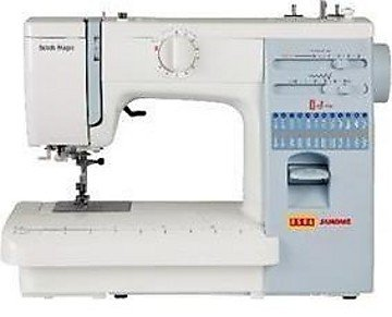Usha Janome Automatic Stitch Magic 85-Watt Sewing Machine (White and Blue)