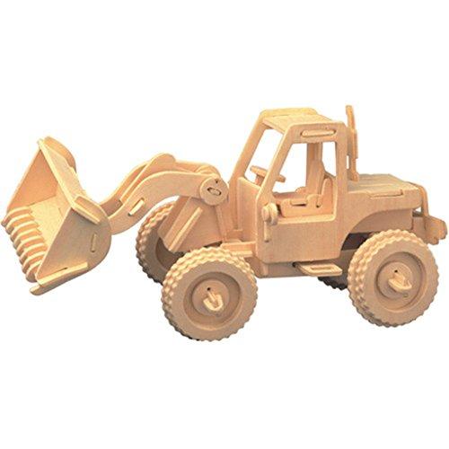 Puzzles aus Holz Fahrzeug/Schiff Modell und kreatives Kinderspielzeug - Gabelstapler (Hand-lkw-erweiterung)