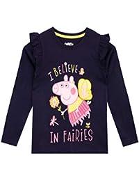 Peppa Pig Camiseta de Manga Larga para niñas