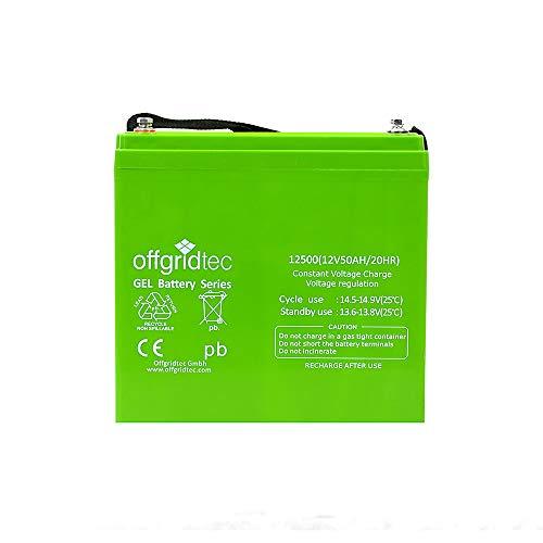 Offgridtec C20 Gel Akku Solarakku Batterie, 50 Ah, 12 V, 1 Stück, 007565