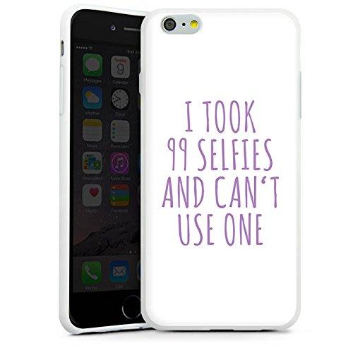 Apple iPhone X Silikon Hülle Case Schutzhülle Selfie Spruch Sprüche Silikon Case weiß