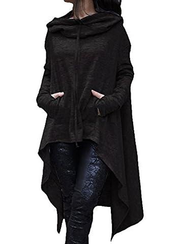 Hqclothingbox Womens Kangaroo Pockets Loose Hoodies Sweatshirts Outerwear Coat Dress