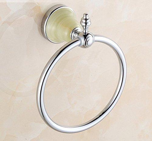 Bronzo dorato, mano di giada rosa oro asciugamano anello asciugamano anello asciugamano anello portasciugamani,A - Oro Giada Anello