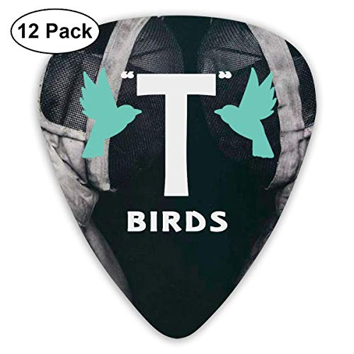T Birds Gang Logo Sampler Guitar Picks - 12 Pack Unique Accessory for Guitar Player Best Gift for Guitarist