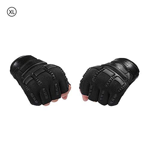 Ryegf Army Fan Half Finger Strategic Handschuhe - Outdoor Sports Men Commando Bergsteigen Kampf Rutschfeste Handschuhe