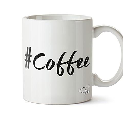 Hippowarehouse Mot-clic Café Imprimé Mug Tasse en céramique 283,5gram, Céramique, Black Text, One Size (10oz)