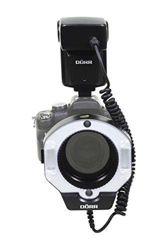 Dörr DMF-15 Makro Ringblitz für Olympus/Panasonic Kamera schwarz