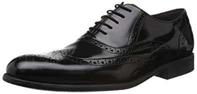 Ruosh Men's Black Leather Formals and Lace - Ups - 11 UK/India (45 EU)(12 US)