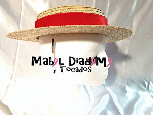 3fdf8a6a1418b Mabel Diademe Canotiers sombrero paja 1º calidad tocados bodas comunion  invitada accesorio.