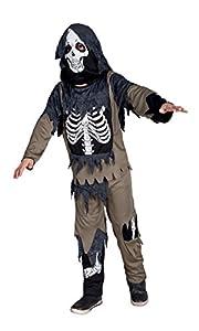 Boland - Disfraz para niño con diseño esqueleto zombi, talla 128 (78048)