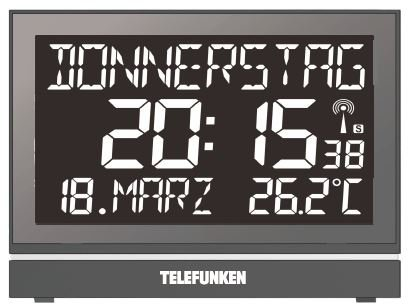 Telefunken FUX-700-HRB (B) SENIOREN XXL-LCD-Funkwecker