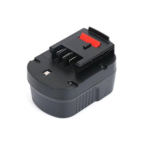 REEXBON BLACK & DECKER Batterie A12E 12V 3000mAh NIMH Remplacement Batterie pour BLACK & DECKER HP12 HPB12 HP122 HP122K A12-XJ A12EX A1712 FS120B FSB12 FS120BX
