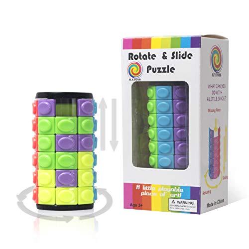 R.Y.TOYS Cylinder Puzzle Cube Magique Jeu de Puzzle pour Adultes Cube de Vitesse Jeux de réflexion pour Enfants intelligents Cube Jouet Logique Puzzles pour Enfants Puzzles 3D pour Enfants 3600B
