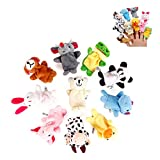 Ukainiemai 10 Animal Finger Puppets Set Soft Cloth Animal Bedtime Story Doll Baby Educational Finger Dolls Gift for Kids