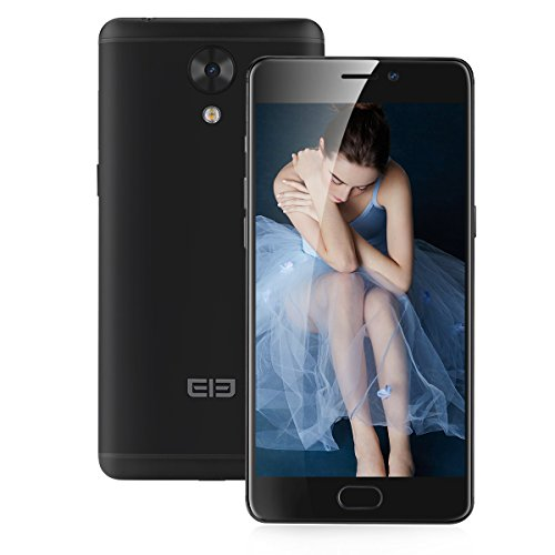 Elephone P8 mini - 4G Smartphone, 5.0 Zoll, Android 7.0, Handy ohne Vertrag, MT6750T Octa-core, 4GB RMA 64GB ROM, 2680mAh, Fingerabdruck-ID, Frontkamera und Dual Back-Kamera, Dual SIM, OTG (Schwarz)