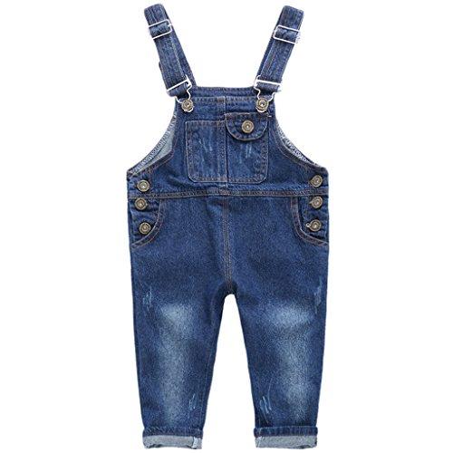 R.b.hickory salopette bambini - jeans tuta ragazze pantaloni lunghe bambino salopette denim 3-4 anni