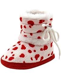 Zapatos Bebé invierno, Amlaiworld Botines De Bebé recién nacidos Niña niño Botas de nieve Zapatos de invierno (13 / 12-18Mes, Rojo)