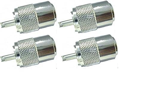 ROCKET RADIO, Superior PL259 Buchse für RG213), 9 mm, Coax x 4, 4 Stück