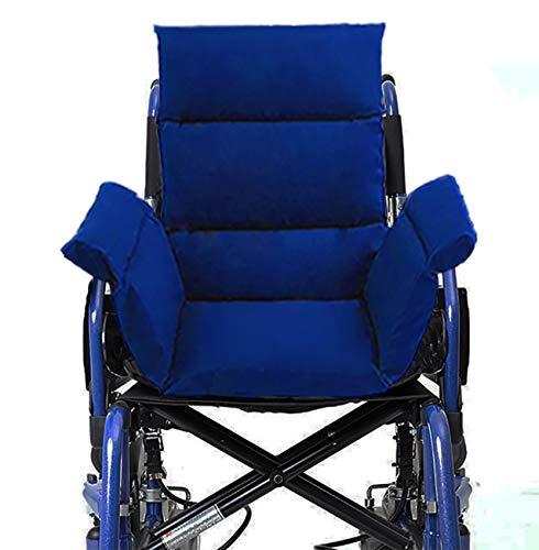 Komfortkissen für Rollstuhl Bürostuhl Esszimmerstühle Sofa Gartenbank (Blau)