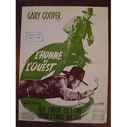 Dossier de presse de L'homme de l'Ouest (1958) – 31x 47cm - Film de Anthony Mann avec Gary Cooper, Julie London – Photos N&B – résumé scénario – Bon état.