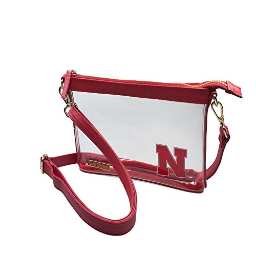 University of Nebraska Huskers Capri Designs deutlich Mode, Lizenzprodukt klar Kleine Crossbody Stadion Ansprüchen gerecht (Nebraska University)