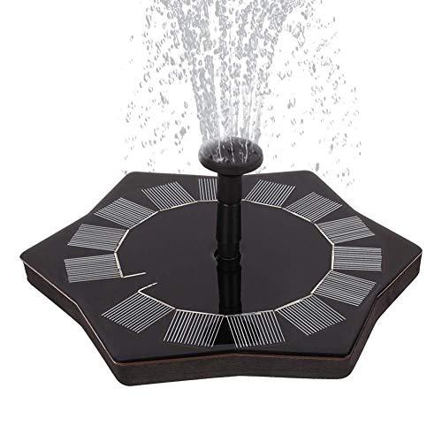TEN-G Solar Bird Bath Fountain Pump, 1.5W Upgrade Version Solar Fountain Pump, Solar Panel Kit Water Pump, for Garden, Pond, Pool, Patio Decoration, Aquarium. -
