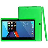 7Inches Tablet PC HD Touchscreen Mic WiFi Android 4.4 Octa Core Quad Core Tablet PC 1GB + 8GB Dual Camera WiFi,Support Games, Skype,MSN,Facebook, Twitter, Etc (Green)