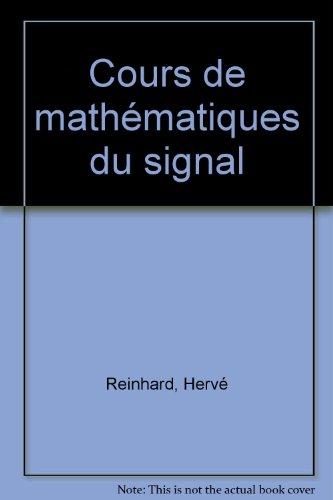 Cours de mathématiques du signal