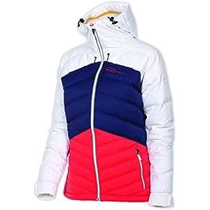 Qloom W's Down Aspiring Veste de ski pour femme S Blanc - Blanc/bleu marine