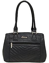 ESBEDA Black Solid Pu Synthetic Material Handbag For Women