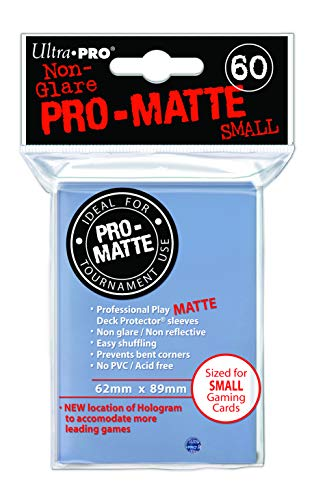 60 Ultra Pro Deck Protector - Pro-Matte Clear Small Size Sleeves Klar Durchsichtig Transparent -