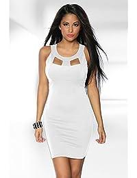 Etui-Kleid weiß Gr.S, M ,L oder XL 12959, Größe Atixo:S