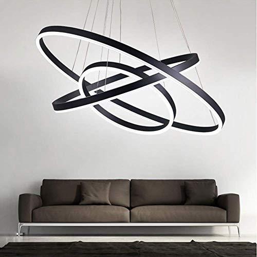 Pendelleuchte LED 3 Ring Design höhenverstellbar Morden Hängelampe Wohnzimmer Esstisch Küche Loft Arbeitszimmer Ø80 + Ø60 + Ø40CM 90W 5000LM -